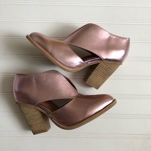Free People Metallic Pink Booties